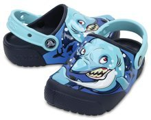 CROCS CROCSFUNLAB  LIGHTS 204133-92G shark/navy
