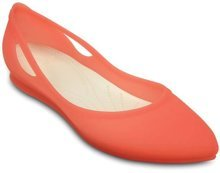 CROCS RIO FLAT W CORAL/OYSTER