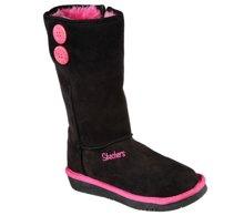 SKECHERS GLAMSLAM-  BUTTON BEAUTIES 89124L/BKHP BLACK/HOT PINK