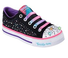 SKECHERS S LIGHTS SHUFFLES TWIRLYTOES 10627L/BKMT