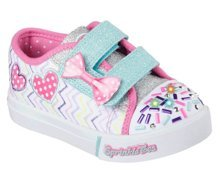 SKECHERS S LIGHTS SKIPPERS POLKADOT DOODLES 10658N/WMLT
