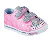 SKECHERS S LIGHTS SPARKLE GLITZ HEARTSY GLAM 10709N/PLKB