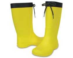 CROCS FREESAIL RAIN BOOT 203541-7C1  lemon