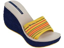 IPANEMA NEOPRINT SLIDE FEM 81844  24202 BLUE/BEIGE/YELLOW